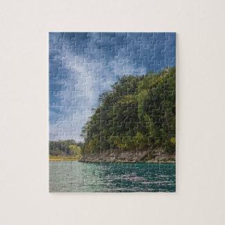 湖の平和な日 ジグソーパズル