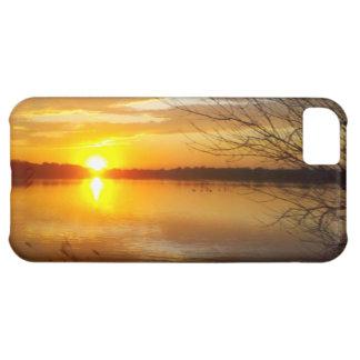 湖の日没 iPhone5Cケース