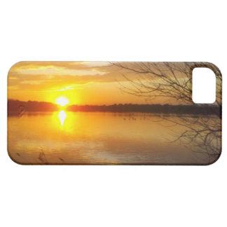 湖の日没 iPhone 5 CASE