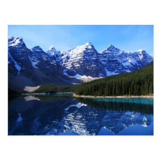 湖の氷堆石の郵便はがき ポストカード