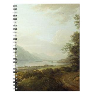 湖の畏怖、Argyllshire、c.1780-1800 (キャンバスの油) ノートブック