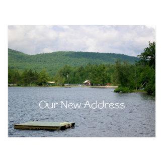 湖の眺めの新しい住所 ポストカード