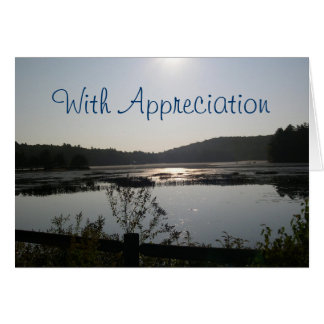 湖の眺めの牧師の感謝カード カード