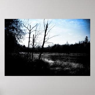 湖の眺め ポスター