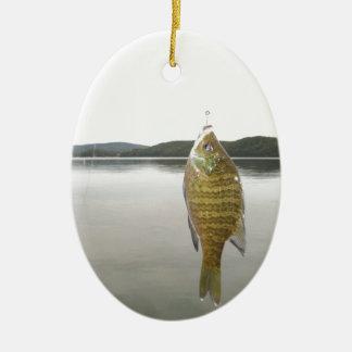 湖の矢じりの黄色いsunfish セラミックオーナメント