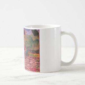 湖の神社の風車 コーヒーマグカップ