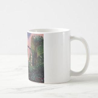 湖の神社 コーヒーマグカップ