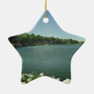 湖の端 陶器製星型オーナメント
