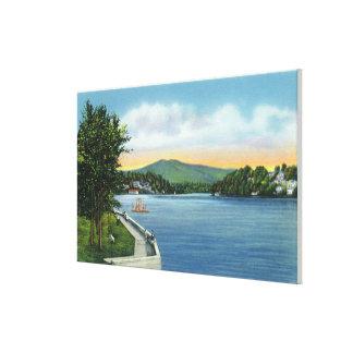 湖の花、間隔のスカーフェイスMt キャンバスプリント