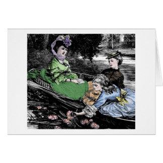 湖の若い女性 カード