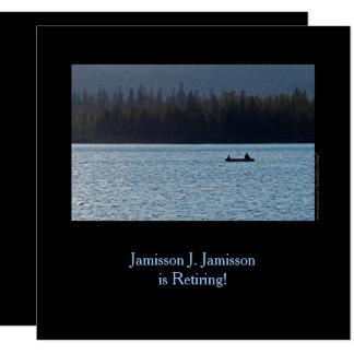 湖の退職の発表、漁師および息子 13.3 スクエアインビテーションカード