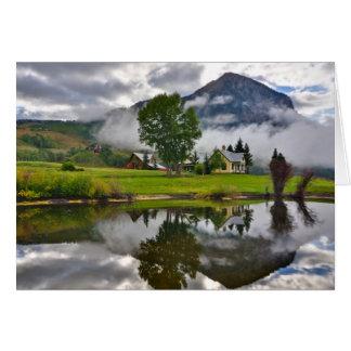 湖の霧の少し家 カード