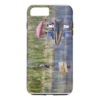 湖の2人の漁師 iPhone 8 PLUS/7 PLUSケース
