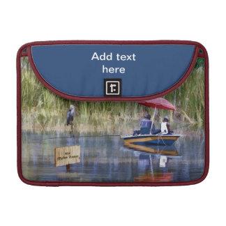 湖の2人の漁師 MacBook PROスリーブ