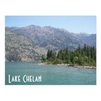 湖のChelan旅行 ポストカード