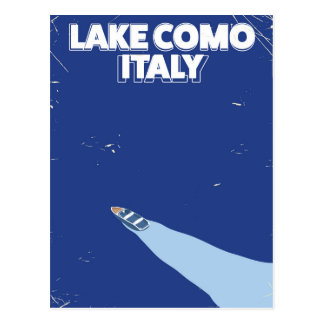 湖のcomo itlay旅行ポスター ポストカード