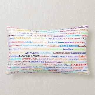 湖のElmoの文字デザインなII Lumbarの枕 ランバークッション