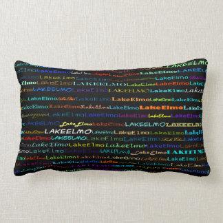 湖のElmo文字デザインなIのLumbarの枕 ランバークッション