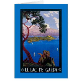 湖のGarda旅行昇進ポスター カード