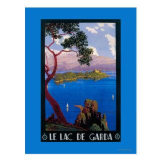 湖のGarda旅行昇進ポスター ポストカード