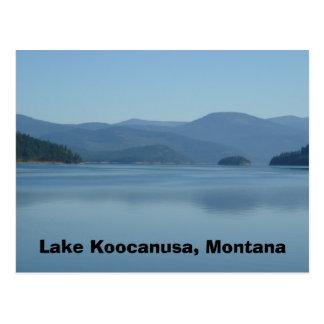 湖のKoocanusaモンタナの郵便はがき ポストカード