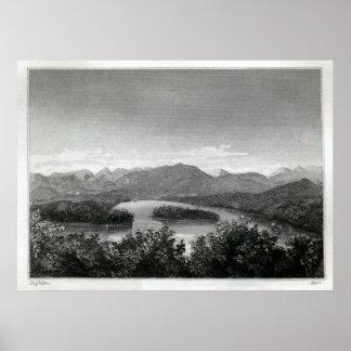 湖のSanfordのAdirondacks ポスター