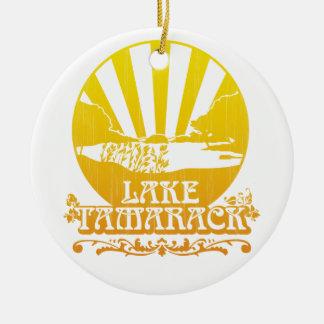 湖のTamarackのオーナメント: レトロ 陶器製丸型オーナメント