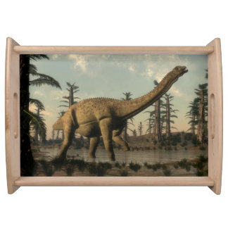 湖のUberabatitanの恐竜 トレー