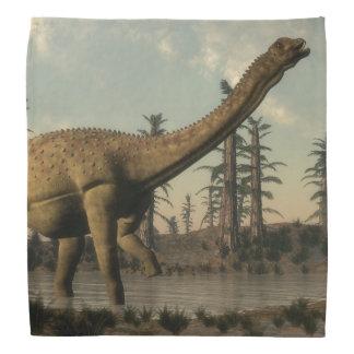 湖のUberabatitanの恐竜- 3Dは描写します バンダナ