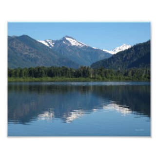 湖のWenatcheeの反射 フォトプリント