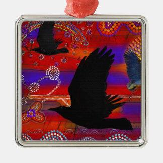 湖のWendoureeのオーストラリアの原生の芸術の日没 メタルオーナメント