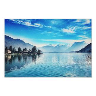 湖アヌシー- Baie de Talloires Print フォトプリント
