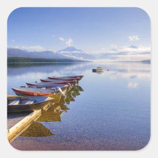 湖マクドナルドのグレーシャー国立公園、モンタナ、 スクエアシール
