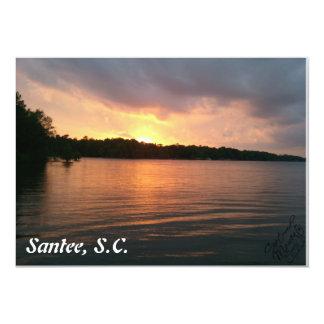 湖マリオン-招待状上の日没 カード