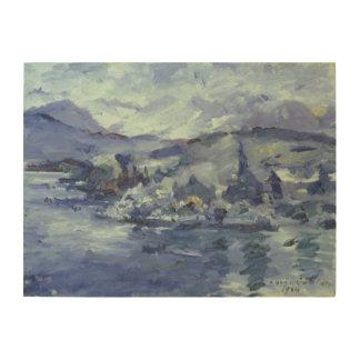 湖ルツェルン1924年の午後 ウッドウォールアート