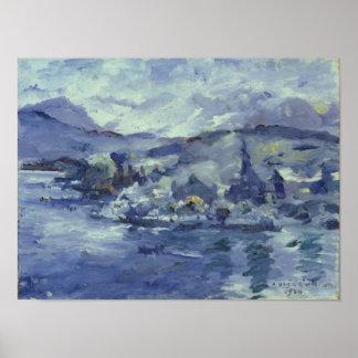 湖ルツェルン1924年の午後 ポスター