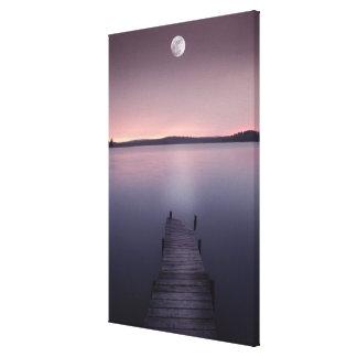 湖上の月 キャンバスプリント