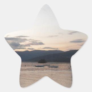 湖地区のWindermere湖 星シール