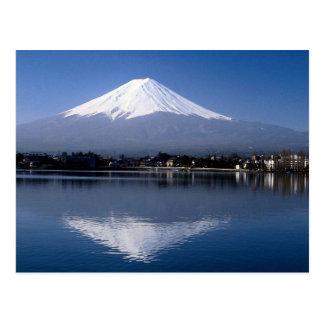 湖川口町、日本の富士山そして反射 葉書き