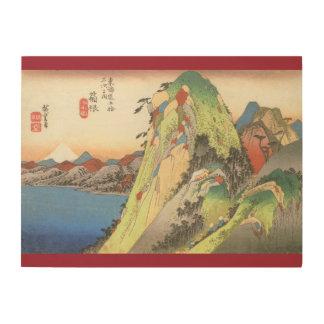 湖日本による高い    石 ウッドウォールアート