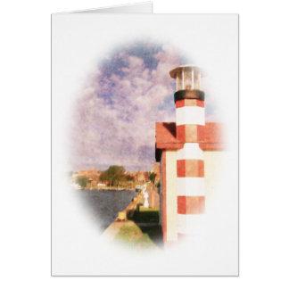 湖畔港のヴィグネット カード