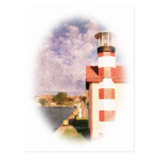 湖畔港のヴィグネット ポストカード