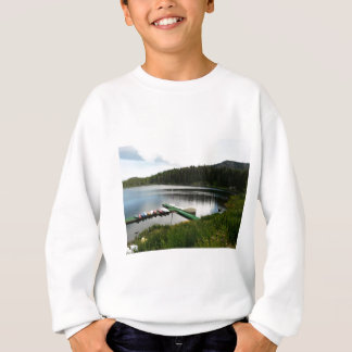 湖2のカヌー スウェットシャツ