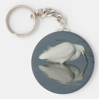 湖2 Keychainの白鷺 キーホルダー