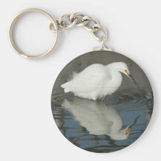 湖3 Keychainの白鷺 キーホルダー
