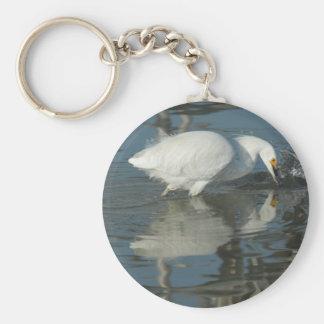 湖5 Keychainの白鷺 キーホルダー
