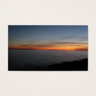 湖、キングストン、たそがれのオンタリオによる日没、 名刺