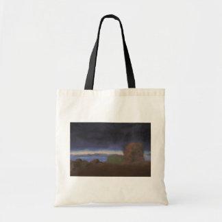 湖、バッグ上の激しい嵐 トートバッグ