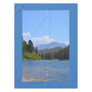 湖、青空の美しい景色の写真、 テーブルクロス