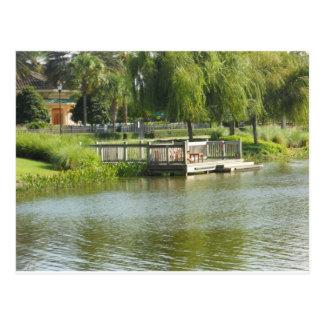 湖、jW Marriottグランデ湖の波止場 ポストカード